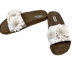 Not Rated White Flower Footbed Sandal